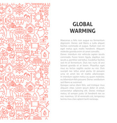 Global warming line pattern concept vector