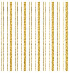 Golden glittering striped pattern over white vector