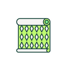 green wallpaper roll concept icon vector image