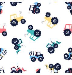 hand drawing vehicles print design seamless vector image