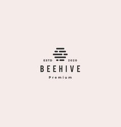 hive digital logo hipster vintage retro icon vector image