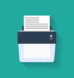 Icon paper shredder flat style vector