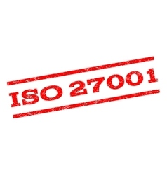 ISO 27001 Watermark Stamp vector