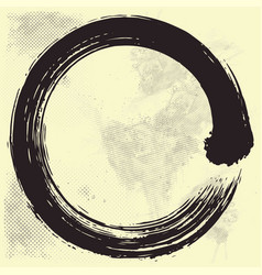 Japanese enso zen circle brush vector