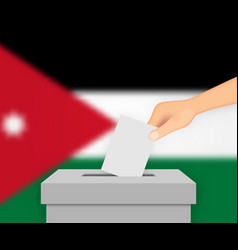 Jordan election banner background vector