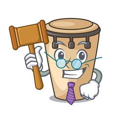 judge conga mascot cartoon style vector image