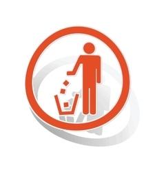 Keep clean sign sticker orange vector