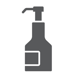 Kitchen syrup glyph icon sauce and food vector