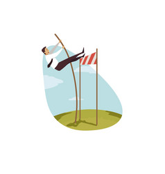 leadership winning overcoming business concept vector image