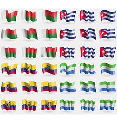 Madagascar Cuba Ecuador Sierra Leone Set of 36 vector