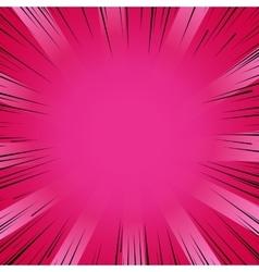 Manga comic book flash explosion radial lines vector image
