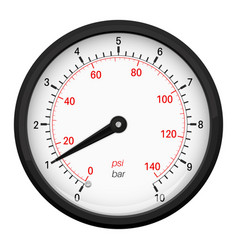 Manometer round 3d gauge vector