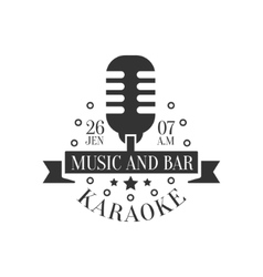 Old-Fashioned Microphone Karaoke Premium Quality vector image
