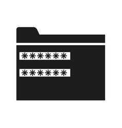 Password security system file protection pictogram vector