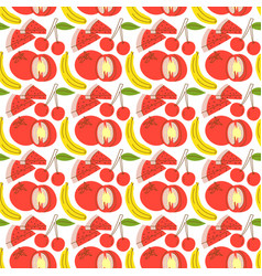 pattern seamless with fruit element watermelon vector image