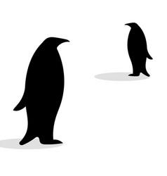 penguin friendship symbol loyalty vector image
