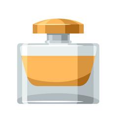 Perfume bottle object on white vector