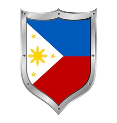 Philippines flag button vector image