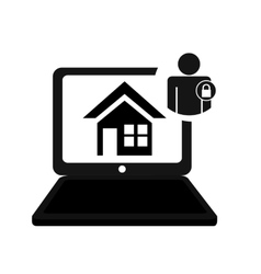 pictogram home security smart technology padlock vector image
