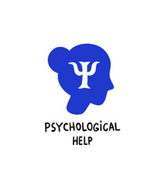 psychology psychological help female head vector image