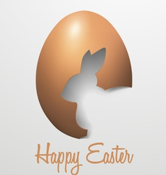 Realistic Happy Easter with Egg Rabbit vector