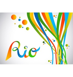 Rio brazil color design with shapes for sport game vector image