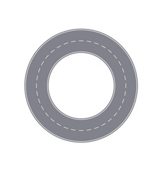Road ring isolated street map segment vector