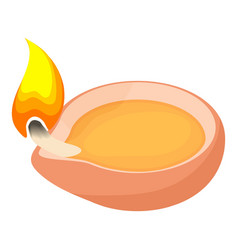 Scented candle icon cartoon style vector