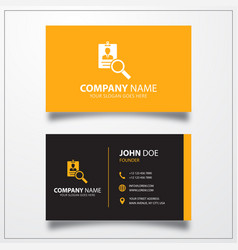 Search id card icon business card template vector