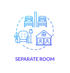 Separate room blue concept icon self isolation vector