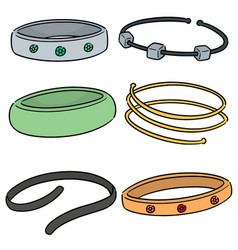 Set of bracelet vector