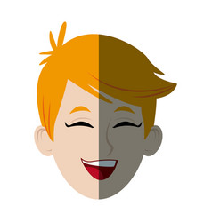 Smiling young boy student avatar people vector