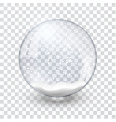snow globe ball realistic new year christmas vector image