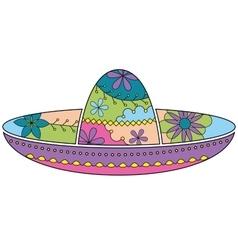 Sombrero colorful vector