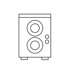 speaker sound audio outline vector image