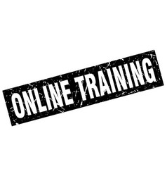square grunge black online training stamp vector image