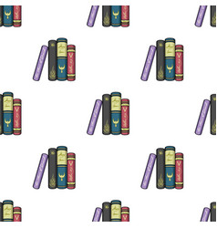 Standing books icon in cartoon style isolated on vector