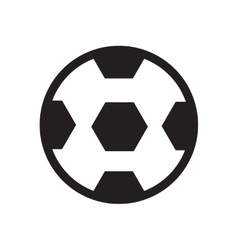 Stylish black and white icon soccer ball vector