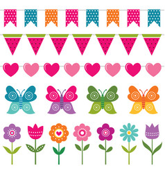 Summer decoration set vector