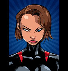 superheroine portrait ray light vertical vector image