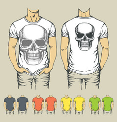 t-shirts templates with prints of animals vector image