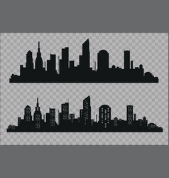The silhouette of the city in a flat style modern vector