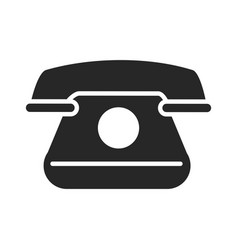 vintage telephone communicate conversation vector image