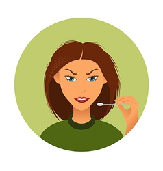 Woman and wadding stick vector image
