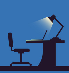home or office desk flat style vector image