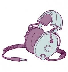 vintage headphones vector image vector image