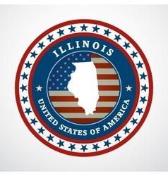 Vintage label Illinois vector image vector image
