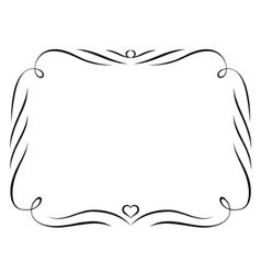 calligraphy ornamental decorative frame vector image vector image