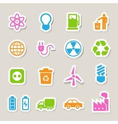 Eco energy icons set eps10 vector image vector image