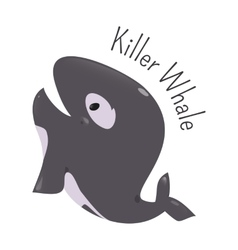 Killer whale isolated Child fun icon vector image vector image